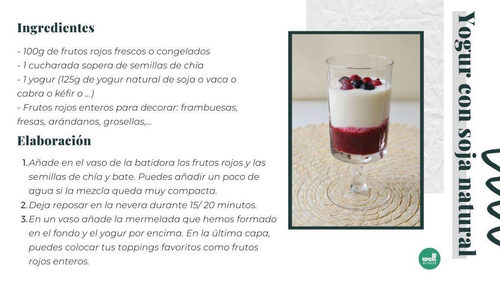 receta yogur natural con chia