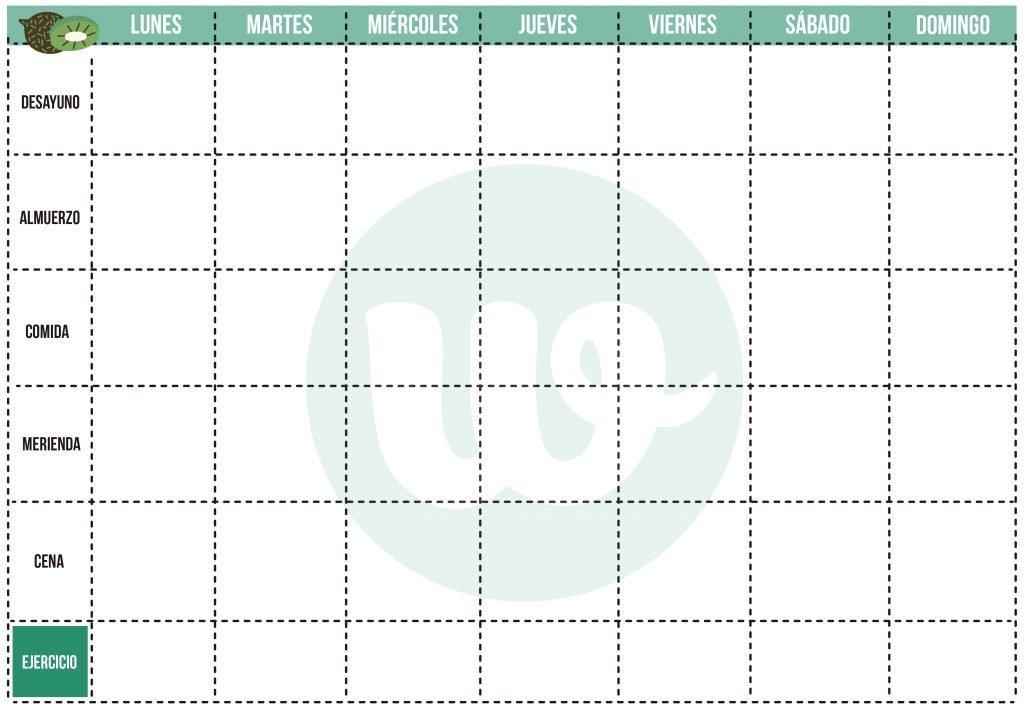planificador semanal comidas